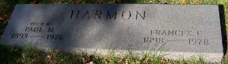 HARMON, FRANCES E. - Stark County, Ohio | FRANCES E. HARMON - Ohio Gravestone Photos