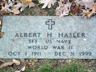 HASLER, ALBERT HENRY - Stark County, Ohio | ALBERT HENRY HASLER - Ohio Gravestone Photos