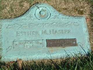 HASLER, ESTHER MARIE - Stark County, Ohio   ESTHER MARIE HASLER - Ohio Gravestone Photos