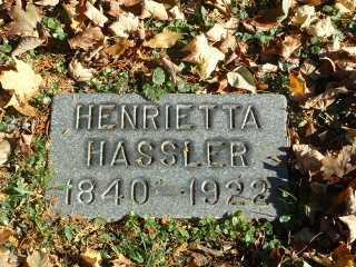 HARTER HASSLER, HENRIETTA - Stark County, Ohio   HENRIETTA HARTER HASSLER - Ohio Gravestone Photos