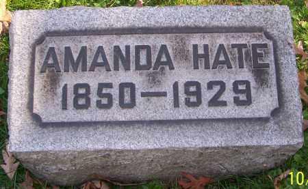 HATE, AMANDA - Stark County, Ohio | AMANDA HATE - Ohio Gravestone Photos