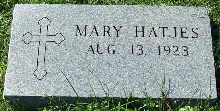 HATJES, MARY - Stark County, Ohio | MARY HATJES - Ohio Gravestone Photos
