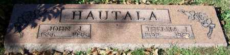 HAUTALA, JOHN J. - Stark County, Ohio | JOHN J. HAUTALA - Ohio Gravestone Photos
