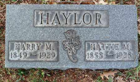 HAYLOR, HATTIE M - Stark County, Ohio   HATTIE M HAYLOR - Ohio Gravestone Photos
