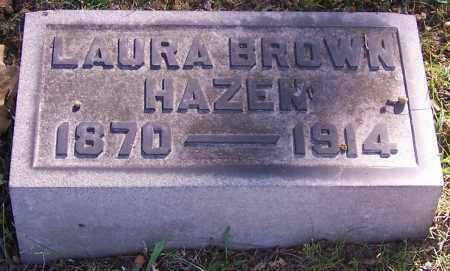 HAZEN, LAURA BROWN - Stark County, Ohio | LAURA BROWN HAZEN - Ohio Gravestone Photos