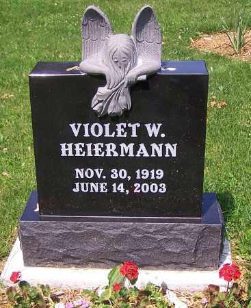 HEIERMANN, VIOLET W. - Stark County, Ohio | VIOLET W. HEIERMANN - Ohio Gravestone Photos