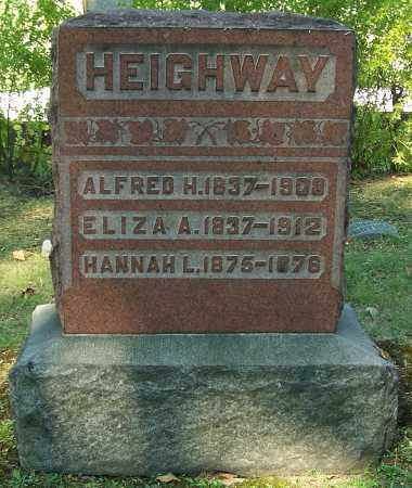 HEIGHWAY, ALFRED H. - Stark County, Ohio | ALFRED H. HEIGHWAY - Ohio Gravestone Photos