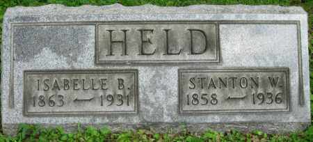 HELD, ISABELLE - Stark County, Ohio | ISABELLE HELD - Ohio Gravestone Photos