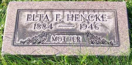 HENCKE, ELTA F. - Stark County, Ohio | ELTA F. HENCKE - Ohio Gravestone Photos
