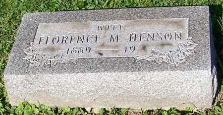 HENSON, FLORENCE M. - Stark County, Ohio | FLORENCE M. HENSON - Ohio Gravestone Photos