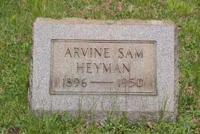 HEYMAN, ARVINE SAM - Stark County, Ohio | ARVINE SAM HEYMAN - Ohio Gravestone Photos