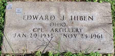 HIBEN, EDWARD J. - Stark County, Ohio   EDWARD J. HIBEN - Ohio Gravestone Photos