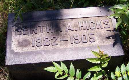 HICKS, BERTHA A. - Stark County, Ohio   BERTHA A. HICKS - Ohio Gravestone Photos