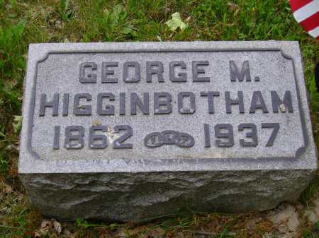 HIGGINBOTHAM, GEORGE M. - Stark County, Ohio | GEORGE M. HIGGINBOTHAM - Ohio Gravestone Photos