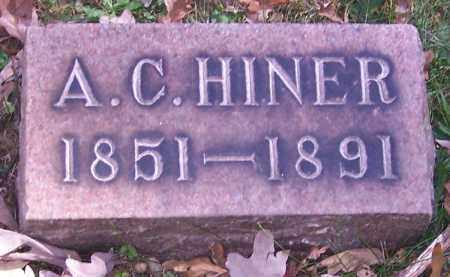 HINER, A.C. - Stark County, Ohio | A.C. HINER - Ohio Gravestone Photos