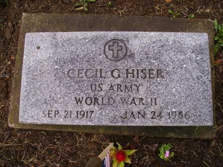 HISER, CECIL G. - Stark County, Ohio | CECIL G. HISER - Ohio Gravestone Photos