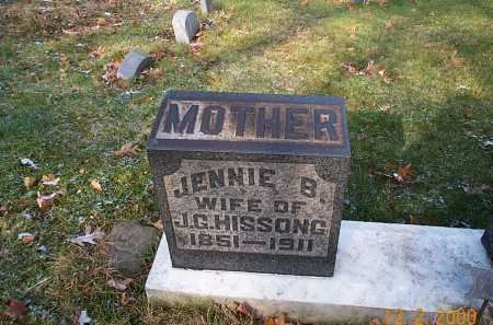 HISSONG, JENNIE BELLE - Stark County, Ohio | JENNIE BELLE HISSONG - Ohio Gravestone Photos