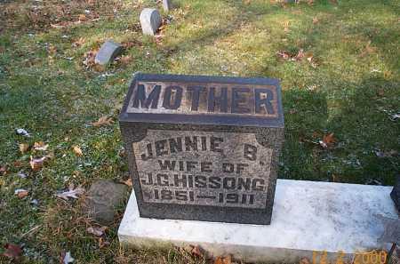 HISSONG, JENNIE BELLE - Stark County, Ohio | JENNIE BELLE HISSONG - Ohio Gravestone Photos