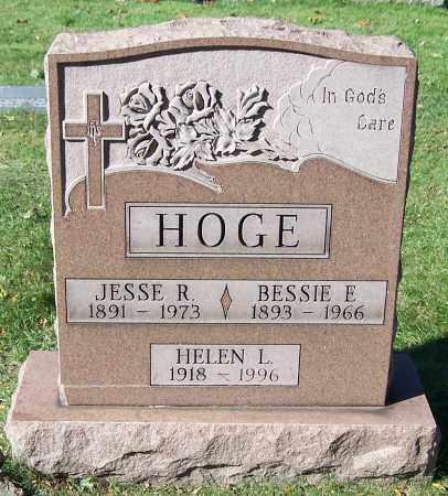 HOGE, BESSIE E. - Stark County, Ohio   BESSIE E. HOGE - Ohio Gravestone Photos