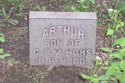HOHS, ARTHUR - Stark County, Ohio   ARTHUR HOHS - Ohio Gravestone Photos