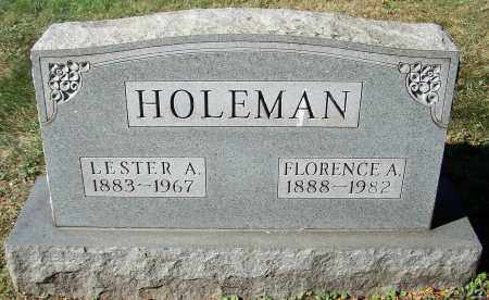 HOLEMAN, LESTER A. - Stark County, Ohio | LESTER A. HOLEMAN - Ohio Gravestone Photos