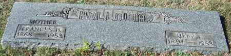 HOLLOWAY, MARY F. - Stark County, Ohio | MARY F. HOLLOWAY - Ohio Gravestone Photos