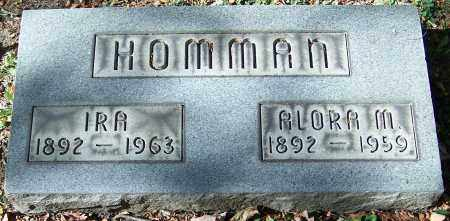HOMMAN, ALORA M. - Stark County, Ohio | ALORA M. HOMMAN - Ohio Gravestone Photos