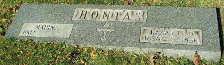 HONTAS, LAZARUS D. - Stark County, Ohio | LAZARUS D. HONTAS - Ohio Gravestone Photos