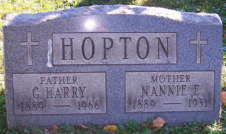 HOPTON, NANNIE E. - Stark County, Ohio   NANNIE E. HOPTON - Ohio Gravestone Photos
