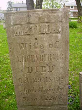 HORNBERGER, MATILDA - Stark County, Ohio | MATILDA HORNBERGER - Ohio Gravestone Photos