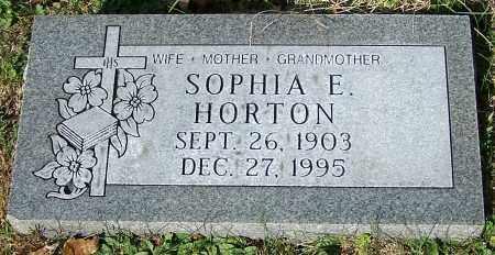 HORTON, SOPHIA E. - Stark County, Ohio | SOPHIA E. HORTON - Ohio Gravestone Photos