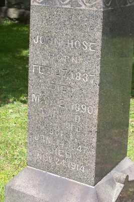 HOSE, MARY D? - Stark County, Ohio   MARY D? HOSE - Ohio Gravestone Photos