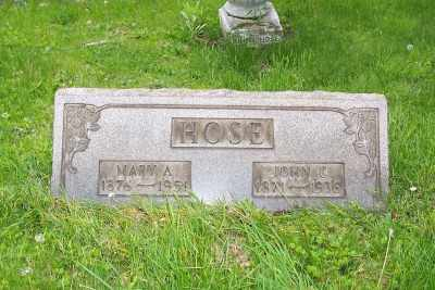 HOSE, MARY A. - Stark County, Ohio | MARY A. HOSE - Ohio Gravestone Photos