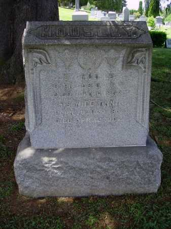 HOUSLEY, ANNA - Stark County, Ohio | ANNA HOUSLEY - Ohio Gravestone Photos