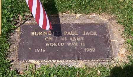 JACK, BURNETT PAUL - Stark County, Ohio | BURNETT PAUL JACK - Ohio Gravestone Photos