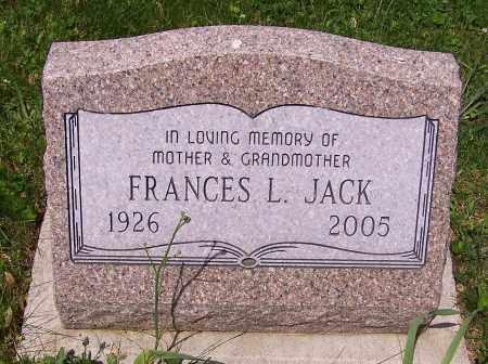 JACK, FRANCES L. - Stark County, Ohio   FRANCES L. JACK - Ohio Gravestone Photos