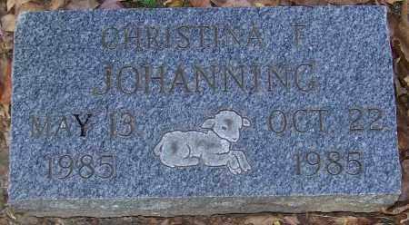 JOHANNING, CHRISTINA F. - Stark County, Ohio | CHRISTINA F. JOHANNING - Ohio Gravestone Photos