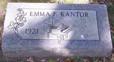 KANTOR, EMMA F. - Stark County, Ohio   EMMA F. KANTOR - Ohio Gravestone Photos