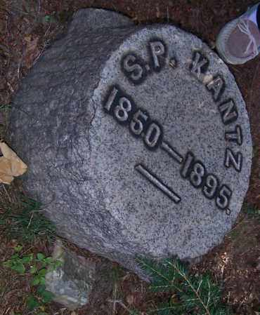 KANTZ, S.P. - Stark County, Ohio   S.P. KANTZ - Ohio Gravestone Photos