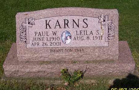 KARNS, PAUL W. - Stark County, Ohio | PAUL W. KARNS - Ohio Gravestone Photos
