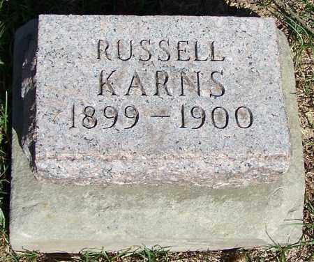 KARNS, RUSSELL - Stark County, Ohio | RUSSELL KARNS - Ohio Gravestone Photos
