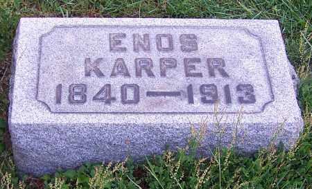 KARPER, ENOS - Stark County, Ohio | ENOS KARPER - Ohio Gravestone Photos