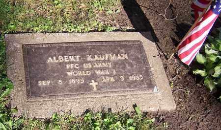 KAUFMAN, ALBERT (MIL) - Stark County, Ohio   ALBERT (MIL) KAUFMAN - Ohio Gravestone Photos