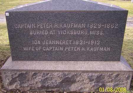 KAUFMAN, IDA JEANNERET - Stark County, Ohio | IDA JEANNERET KAUFMAN - Ohio Gravestone Photos