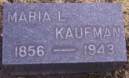 KAUFMAN, MARIA L. - Stark County, Ohio | MARIA L. KAUFMAN - Ohio Gravestone Photos