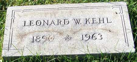 KEHL, LEONARD W. - Stark County, Ohio   LEONARD W. KEHL - Ohio Gravestone Photos