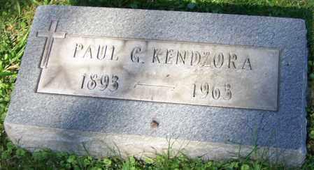 KENDZORA, PAUL G. - Stark County, Ohio | PAUL G. KENDZORA - Ohio Gravestone Photos