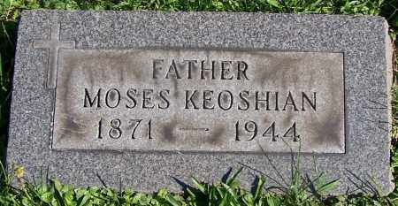 KEOSHIAN, MOSES - Stark County, Ohio   MOSES KEOSHIAN - Ohio Gravestone Photos