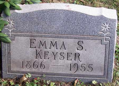 KEYSER, EMMA S. - Stark County, Ohio   EMMA S. KEYSER - Ohio Gravestone Photos