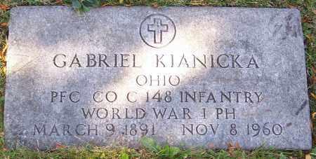 KIANICKA, GABRIEL - Stark County, Ohio   GABRIEL KIANICKA - Ohio Gravestone Photos